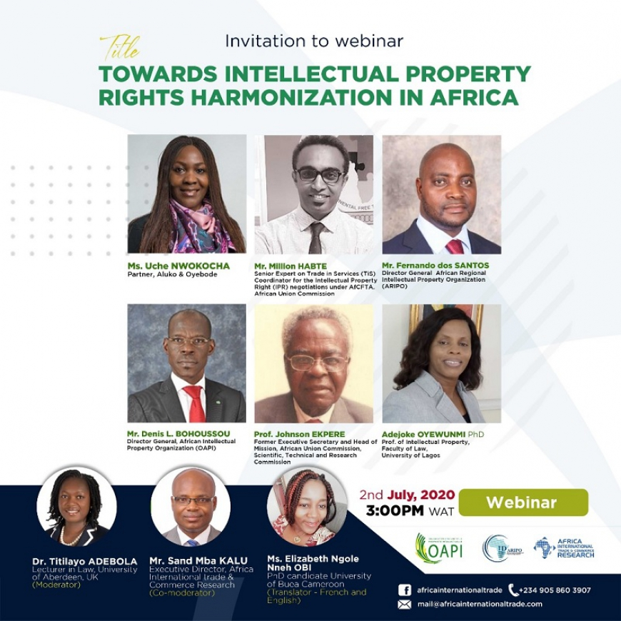 Towards intellectual property rights harmonization in Africa:  Introductory remarks by Mr. Denis L. BOHOUSSOU, Director General of OAPI, speaker